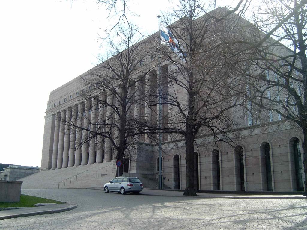 Хельсинки. Здание парламента.