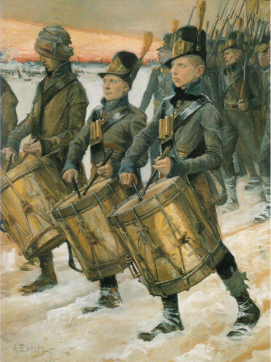 Björneborgarnas_marsch,_akvarell_av_Albert_Edelfelt_från_1900